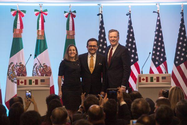 Celebra México acuerdo entre Canadá y EEUU sobre TLCAN, ahora USMCA