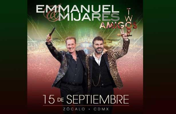 ¡Emmanuel y Mijares en el zócalo capitalino!