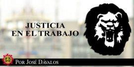 Justicia en el trabajo / Despido por cuatro faltas