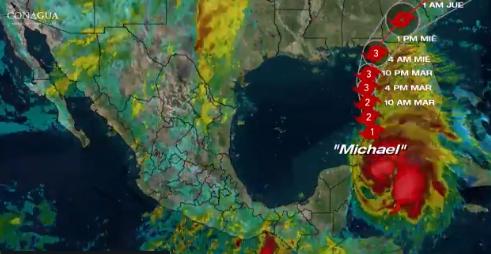 Huracán Michael se adentra al Golfo de México