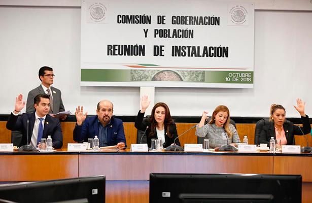 Instala Rocío Barrera comisión de gobernación y población en San Lázaro
