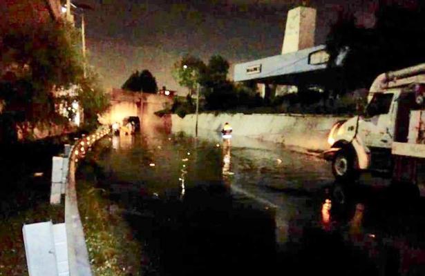 Se inundó Tlalnepantla tras las intensas lluvias