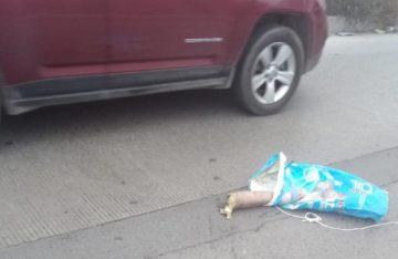 Tiran restos humanos sobre Circuito Mexiquense