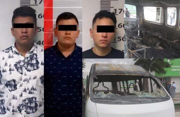 Asaltantes y pirómanos detenidos