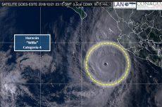 Huracán Willa ya es categoría 5 y se acerca a costas del oeste de México