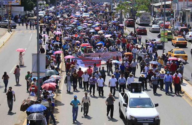 Confirma Sección 22 marcha masiva para el martes