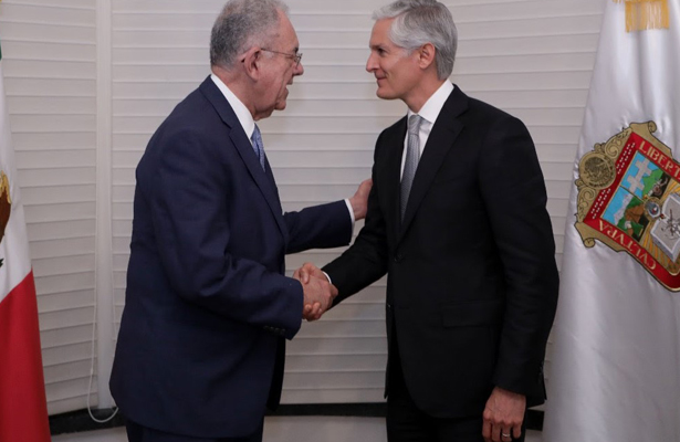 Acuerdan Jiménez Espriú y Del Mazo impulsar aeropuerto de Toluca