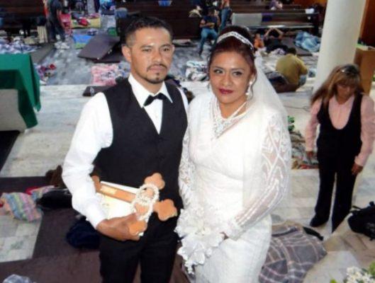 Migrante hondureño se casó con una mujer poblana