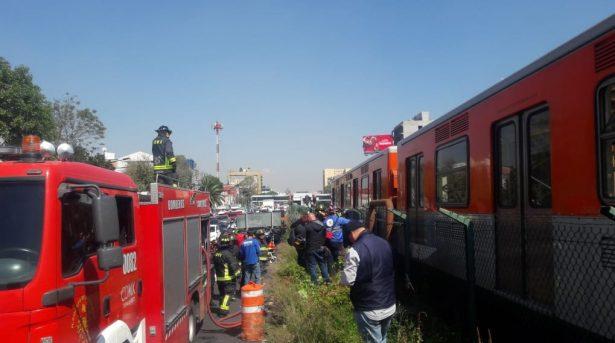 Suspenden servicio en línea 2 del metro por incendio (Video)