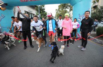 """Celebran la """"Dog Running"""" en la alcaldía Miguel Hidalgo"""