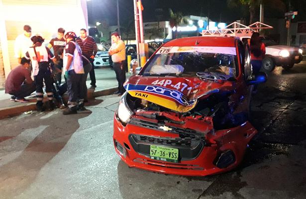 Ignora alto y protagoniza accidente en Tampico