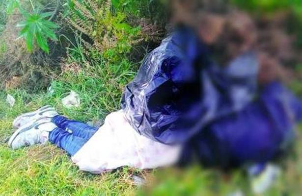 Abandonan cadáver embolsado en Chalco