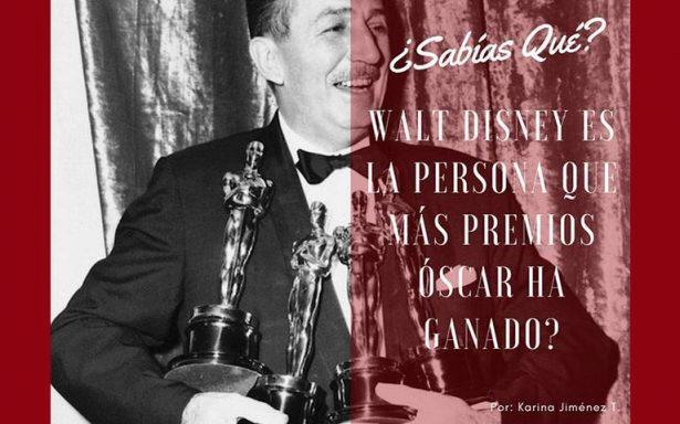 ¿Sabías qué Walt Disney es la persona que más premios de la Academia ha ganado?