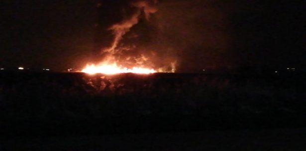 Se incendia ducto en Pueblo Nuevo