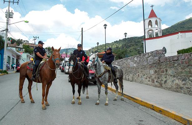 Refuerza policía de Ecatepec conocimientos para el cuidado de equinos
