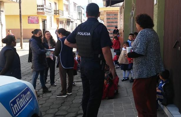 Evacúan jardín de niños por fuga de gas en Paracho, Michoacán
