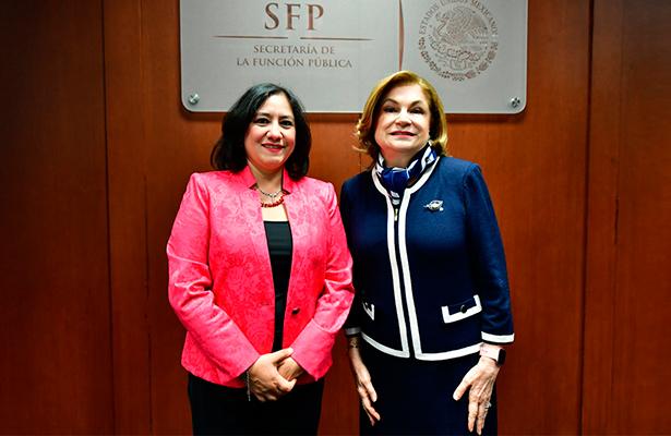 Encabezan la Secretaria de la Función Pública y la ex titular entrega-recepción de la SFP