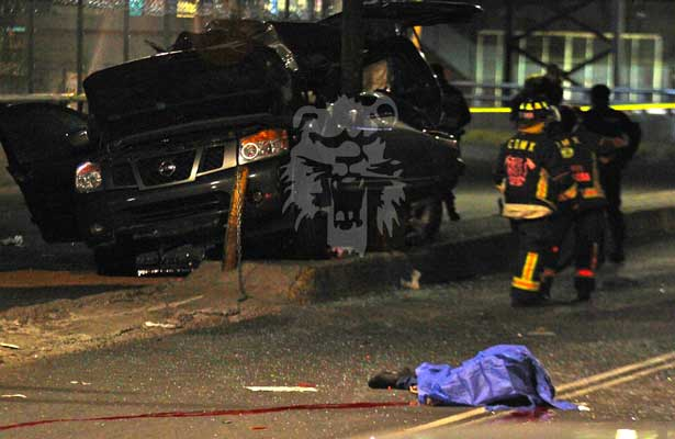 Fatal accidente frente al Metro Pantitlán [FUERTES IMÁGENES]