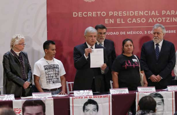 Instala AMLO comisión sobre el caso Ayotzinapa [VIDEO]