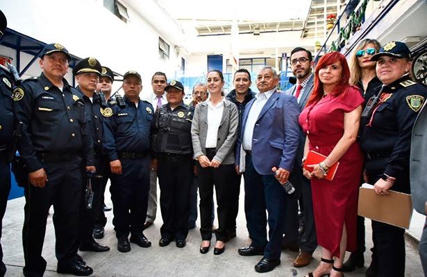 Visita sorpresa de la jefa de gobierno y titular de la SSP a cuartel en Álvaro Obregón