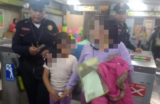 Niña perdida en el metro se reune con su familia