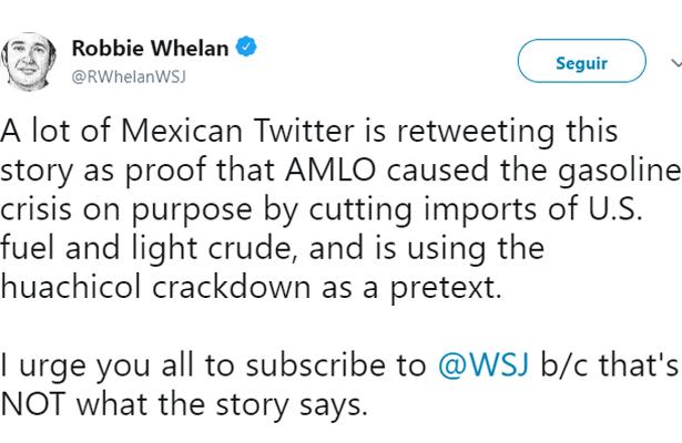Pide reportero de WSJ leer completa la historia