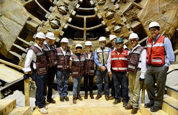 Supervisa Sheinbaum la lumbrera 18 del Túnel Emisor Oriente