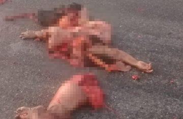 Motociclistas mueren despedazados en carretera; los culpables se dieron a la fuga