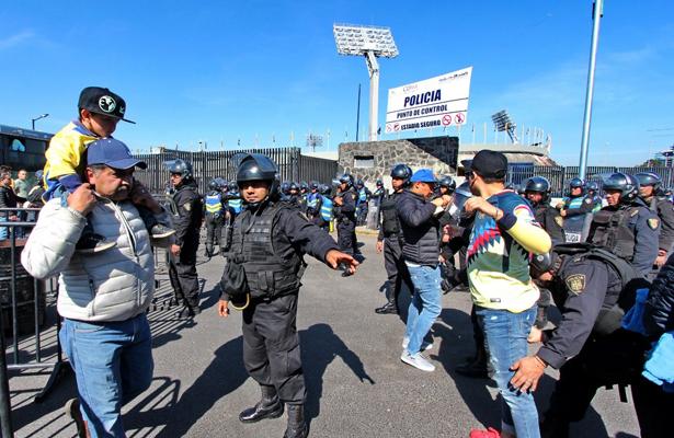 Tres mil 800 polis vigilarán el partido Pumas vs América el domingo