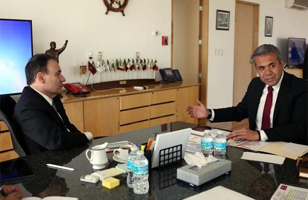 Alfonso Durazo y alcalde de Ecatepec analizan estrategia anticrimen en el Valle de México