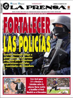 Así las portadas de la OEM este 3 de marzo