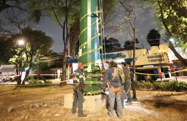 Fue retirada con éxito la mega antena instalada de manera ilegal en la colonia Lomas de Chapultepec