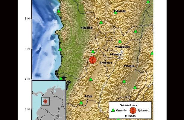 Colombia registra sismo de magnitud 6 grados
