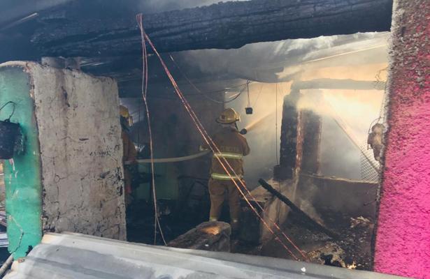 Voraz incendio dejó a joven calcinada en Tacámbaro Michoacán