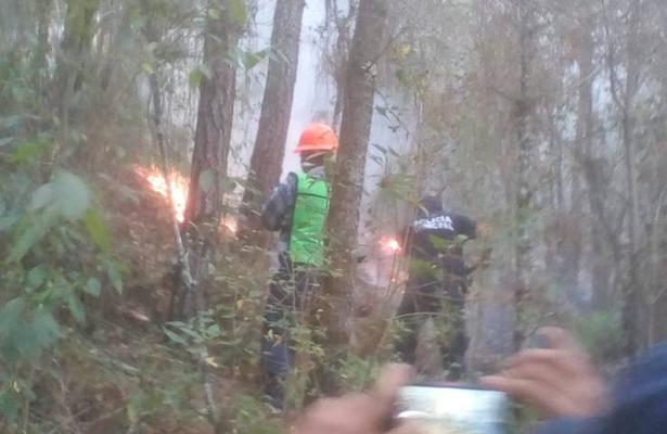 Muere brigadista en combate a incendio forestal en Veracruz