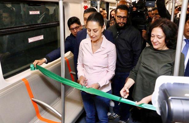 Sheinbaum pone en marcha nuevos trenes de la L1 del Metro
