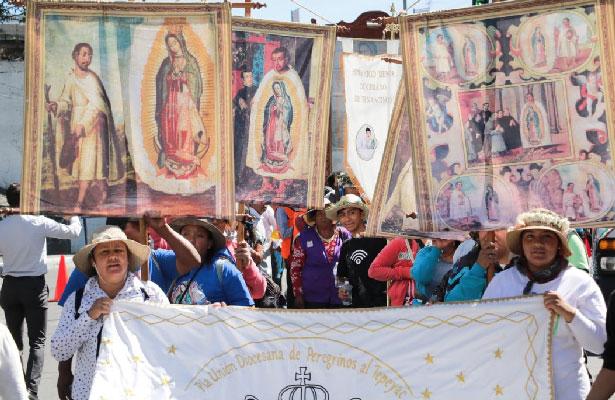 Peregrinos de Tenancingo reciben apoyo de Cuajimalpa en su camino a Basílica de Guadalupe