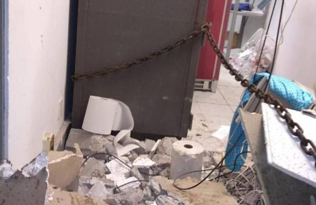 Intentaron robar caja fuerte ¡con una retroexcavadora!