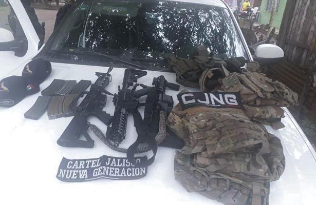 Desmantelan casa de seguridad tras balacera en Veracruz