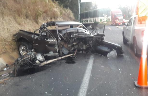 Fallece en aparatoso accidente en la autopista Siglo XXI, en Michoacán