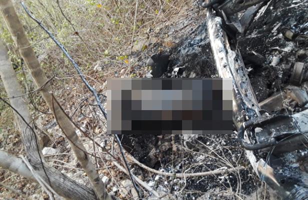 Tres cuerpos calcinados, entre ellos el de un empresario, fueron descubiertos en un barranco