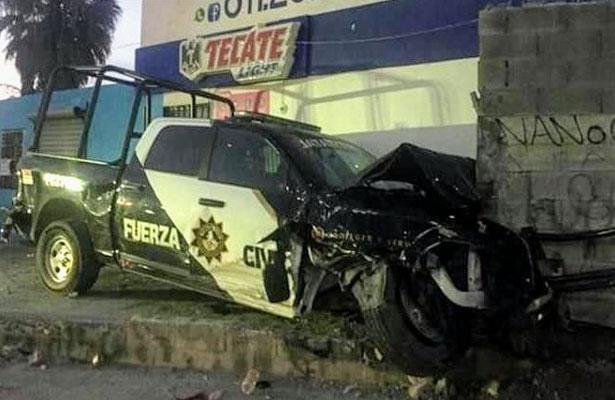 Policías jugaban carreras, destruyen dos patrullas de Fuerza Civil y son investigados