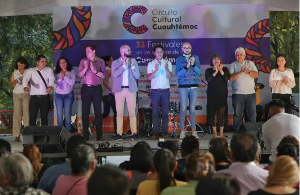 Arrancó el Festival del Circuito Cultural Cuauhtémoc en Parque España
