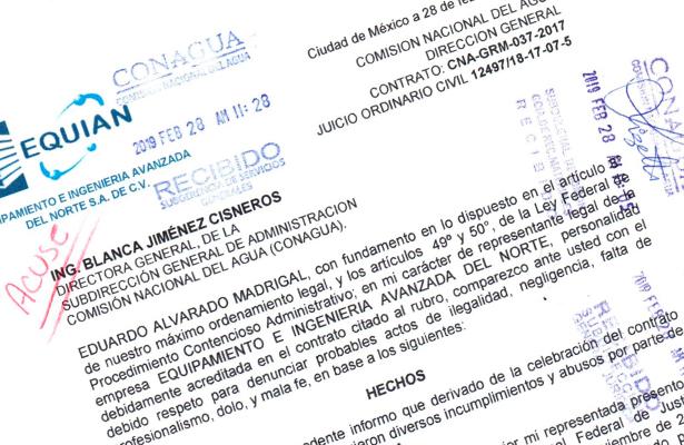 Denuncian irregularidades e incumplimiento a mandatos judiciales de Conagua