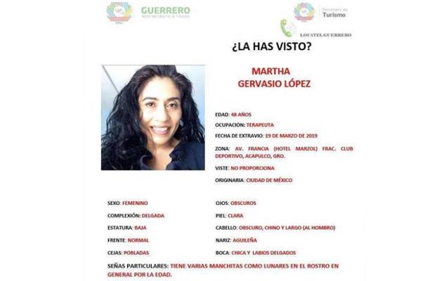 Mujer turista de la CDMX desaparece en Acapulco