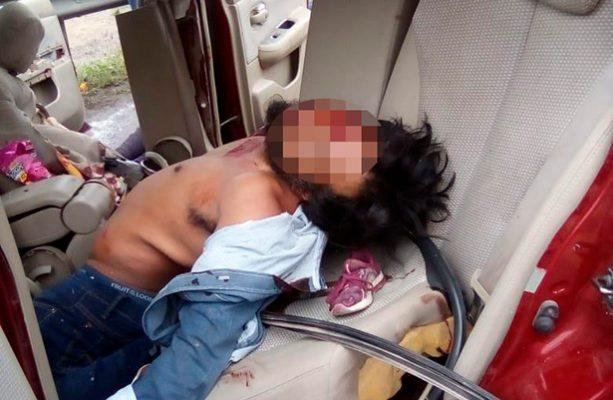 Brutal  choque de auto y camión deja seis muertos en la México- Puebla