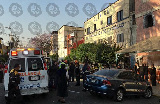 [Video] Se registró explosión en clínica de la Venustiano Carranza