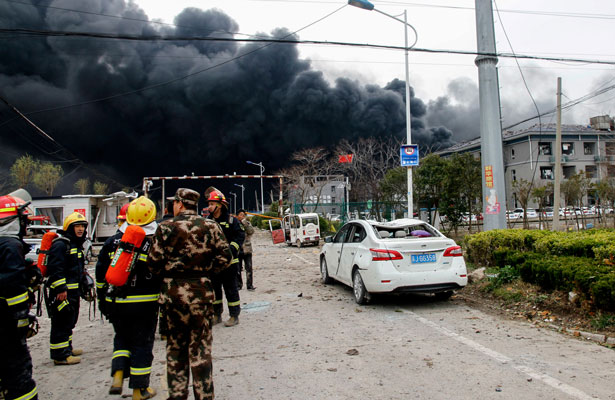Al menos seis personas murieron tras explosión química en China