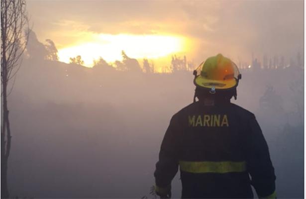 [VIDEOS] Voraz incendio en Xochimilco