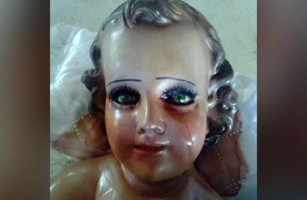 Niño Dios llora lágrimas de sangre en Acapulco